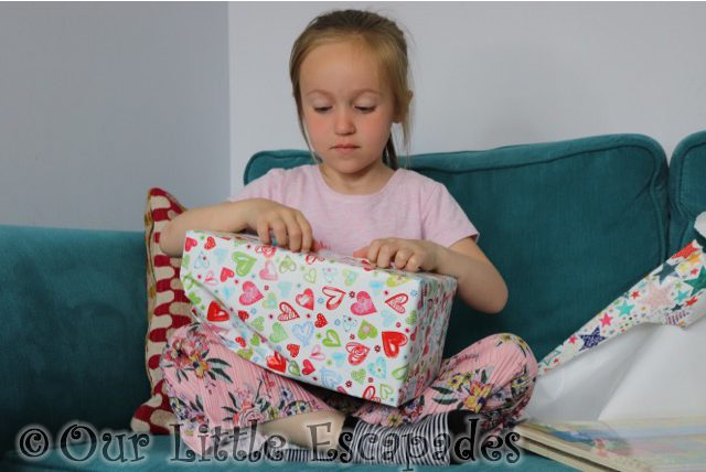 little e opening wicked uncle gift