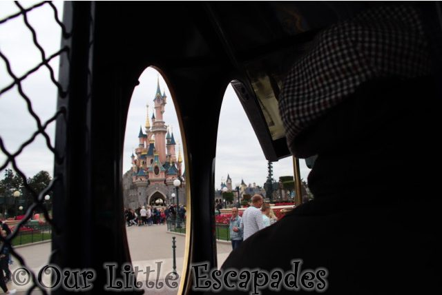 paddy wagon police van sleeping beauty castle
