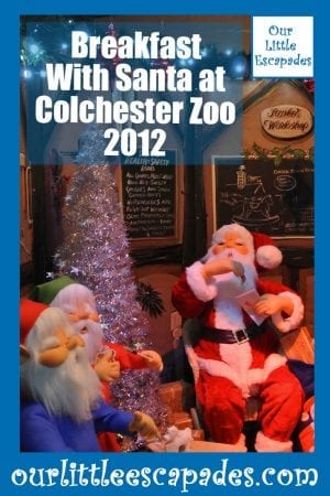 Breakfast With Santa at Colchester Zoo 2012
