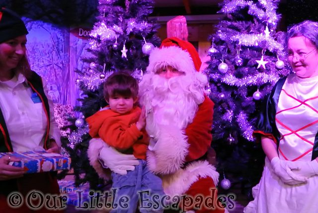 ethan santa elf mother christmas breakfast with santa colchester zoo