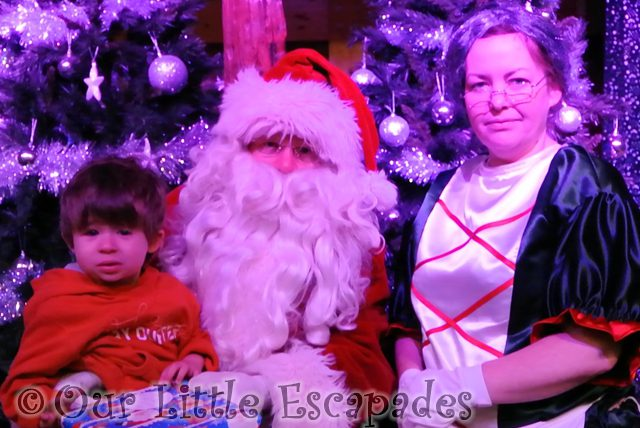 ethan santa mother christmas breakfast with santa colchester zoo