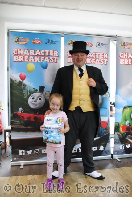 little e fat controller thomas friends character breakfast drayton manor hotel