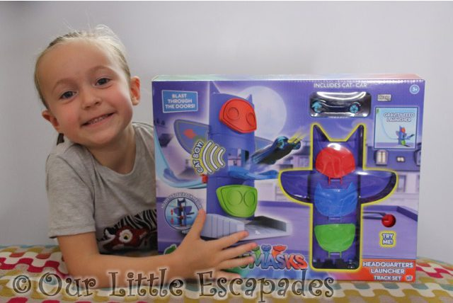 PJ Masks Headquarters Launcher Track Set REVIEW