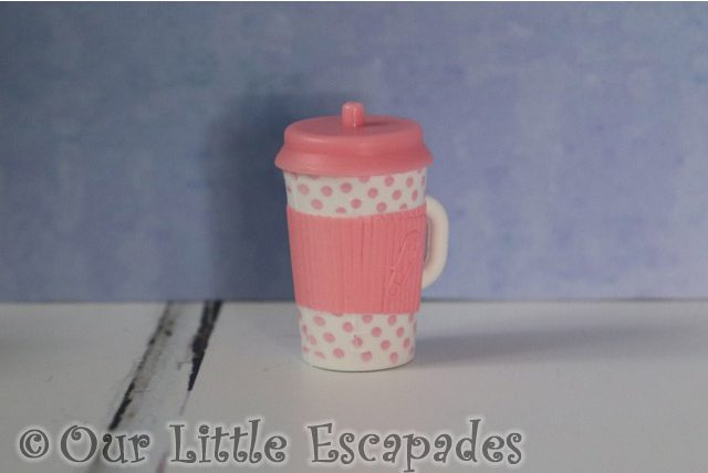 pink drinking cup