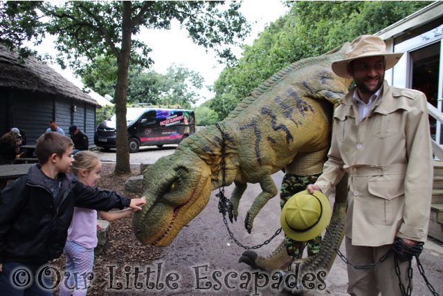 ethan little e meeting t rex port lympne