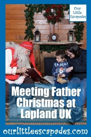 Meeting Father Christmas at Lapland UK