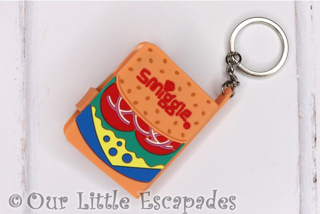 burger notebook keyring back