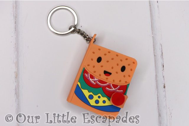 burger notebook keyring front