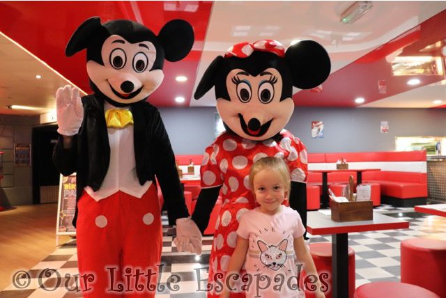 little e mickey mouse minnie mouse east coast diner rollerbowl romford