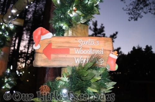 Visiting Santa's Woodland Workshop At Center Parcs