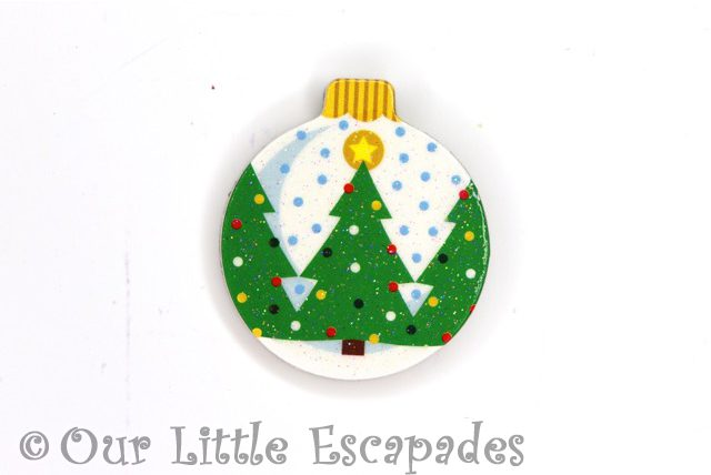 christmas tree pattern magnetic christmas tree bauble