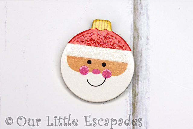father christmas magnetic christmas tree bauble