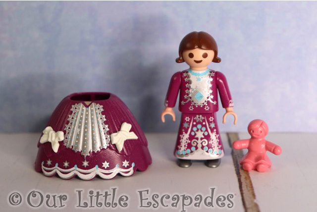 little girl purple ballgown pink doll playmobil christmas ball advent calendar