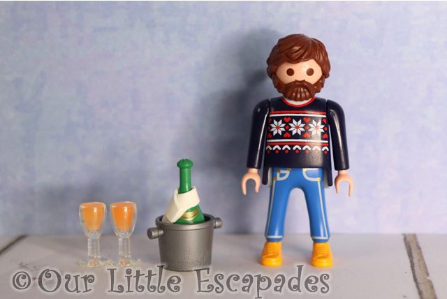 man champagne bottle champagne glasses playmobil jumbo advent calendar