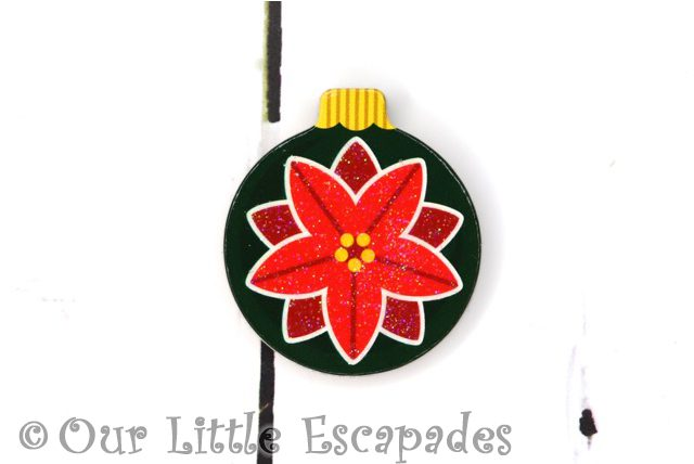 poinsettia magnetic christmas tree bauble
