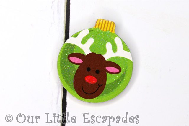 rudolph red nosed reindeer magnetic christmas tree bauble