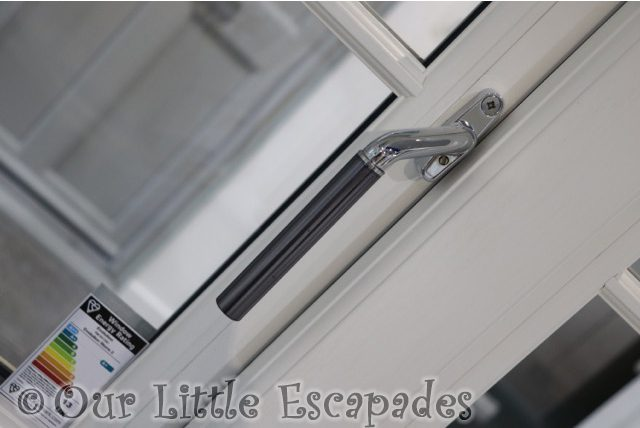 silver window handle