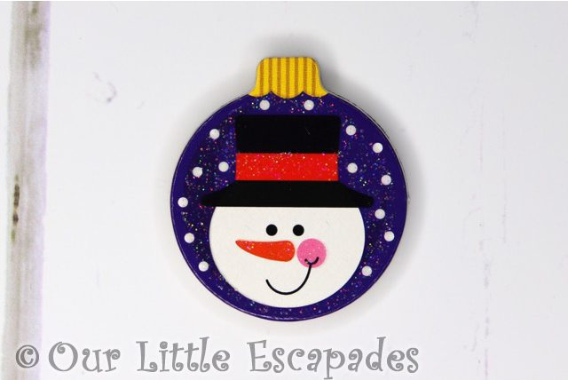 snowman magnetic christmas tree bauble