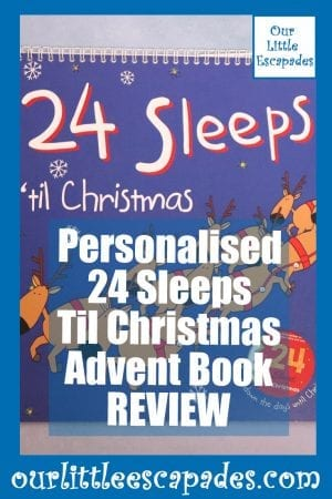 Personalised 24 Sleeps Til Christmas Advent Book REVIEW
