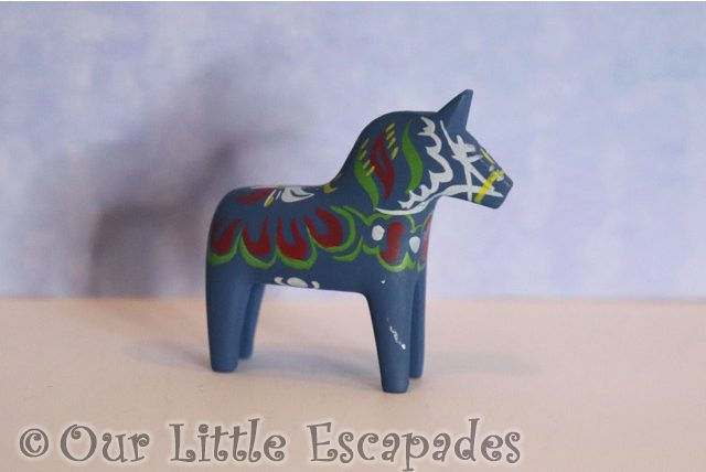 blue decorated horse