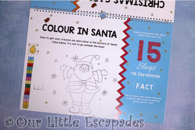 colour in santa 24 sleeps til christmas advent book