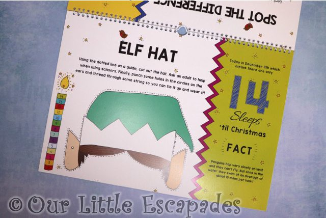 elf hat 24 sleeps til christmas advent book