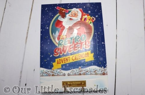 Personalised Retro Sweet Advent Calendar REVIEW Unboxing The Contents