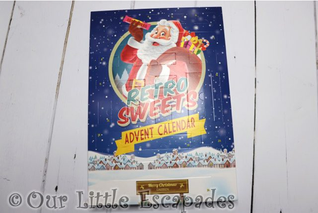personalised retro sweet advent calendar Advent Calendars For Kids