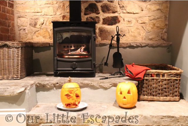 pumpkins fire place orchard cottage dillington estate
