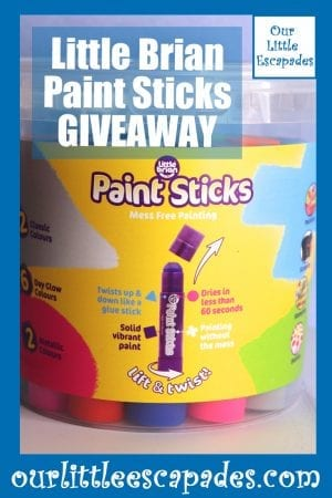 Little Brian Paint Sticks GIVEAWAY