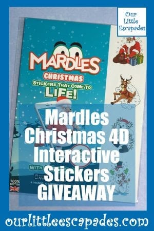 Mardles Christmas 4D Interactive Stickers GIVEAWAY