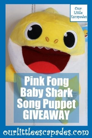 Pink Fong Baby Shark Song Puppet GIVEAWAY