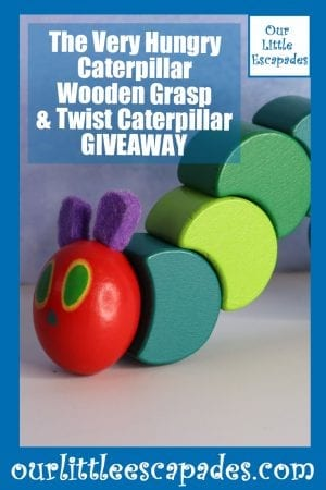 The Very Hungry Caterpillar Wooden Grasp Twist Caterpillar GIVEAWAY