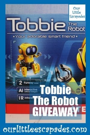 Tobbie The Robot GIVEAWAY