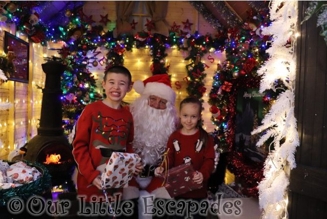 ethan little e meeting father christmas santas grotto perrywood garden centre