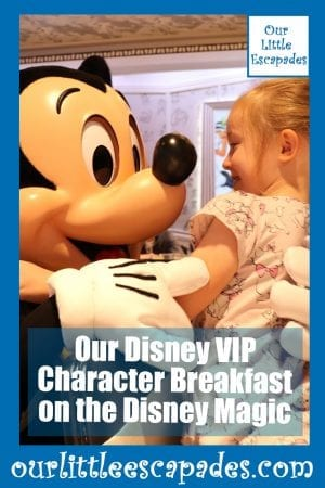 Our Disney VIP Character Breakfast on the Disney Magic