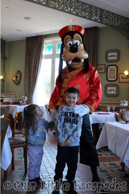 ethan little e goofy chinese new year inventions sunday brunch disneyland hotel disneyland paris