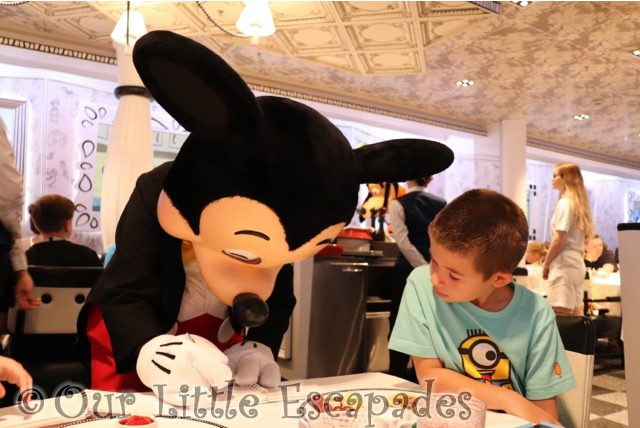 ethan mickey mouse signing autograph