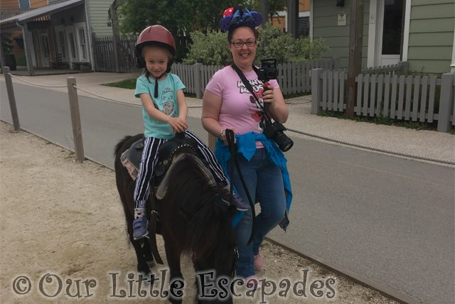 Pony Rides at Disneyland Paris
