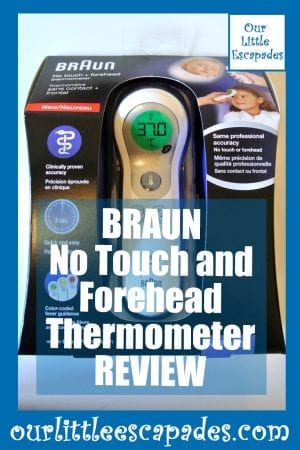BRAUN No Touch and Forehead Thermometer REVIEW pin