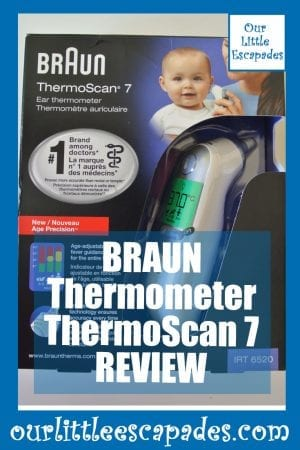 BRAUN Thermometer ThermoScan 7 REVIEW pin