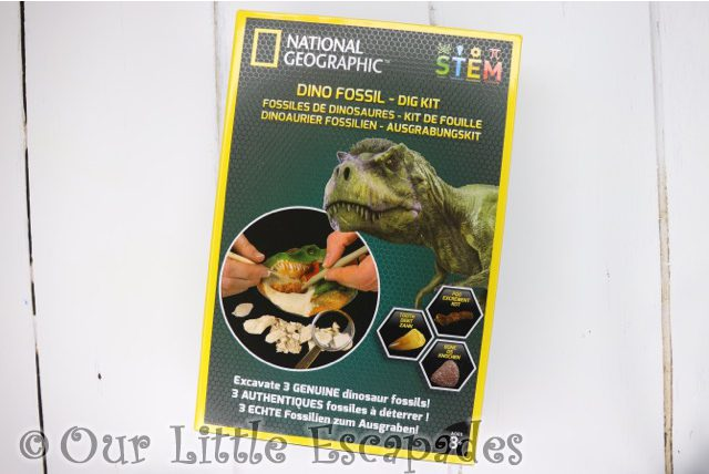 national geographic dino fossil dig kit stem kit