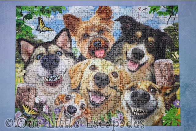 complete ravensburger dogs delight puzzle