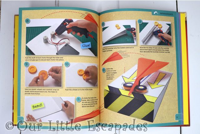 paper plane launcher maker workshop inside pages