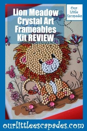 Lion Meadow Crystal Art Frameables Kit REVIEW