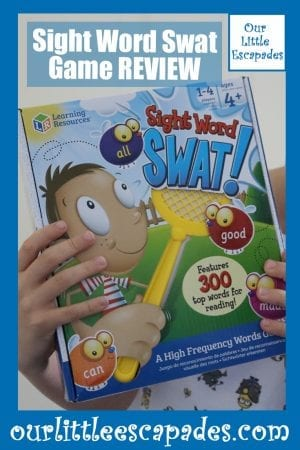 Sight Word Swat Game REVIEW
