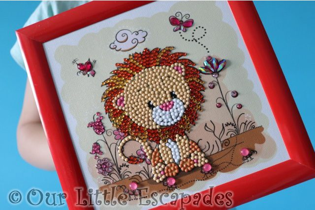 completed masterpiece lion meadow crystal art frameables