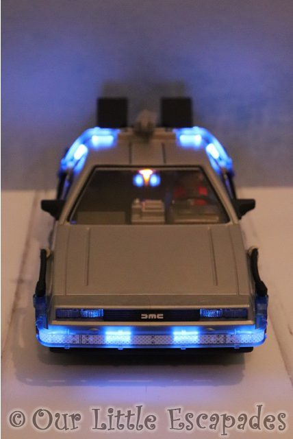 illuminated delorean