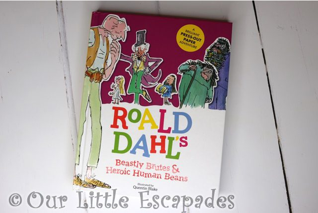 roald dahl press out paper adventure book