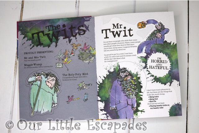the twits inside pages roald dahl press out paper adventure book